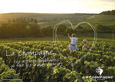 Advertising campaign for the Champagne region